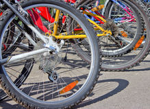 Parking of bicycles Royalty Free Stock Image