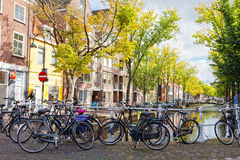 Parking of bicycles Stock Image