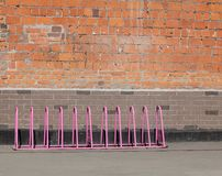Parking for bicycles, empty Stock Image