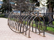 Parking  for bicycles. Parking for bicycles in Minsk Stock Photos