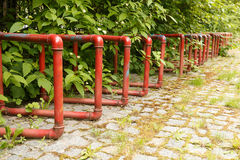 Parking for bicycles in the park Royalty Free Stock Images