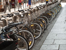 Parking of bicycles Royalty Free Stock Images