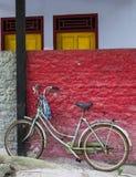 Parking bike on November 2014, West Sumatra. Parking bike at Cave of Mary, West Sumatra Royalty Free Stock Photography
