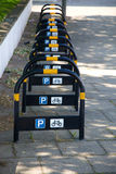Parking for Bikes Royalty Free Stock Photography