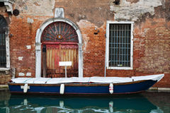 Parking boat in Venice Stock Image