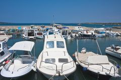Parking for boats. Croatia Stock Image