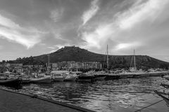 The parking of boats(toscany) Royalty Free Stock Image