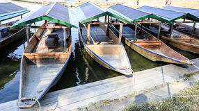 Parking boats waiting for tourists Royalty Free Stock Photo