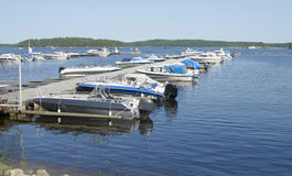 Parking of boats and yachts Stock Photography