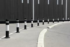 Parking bollards Royalty Free Stock Photos