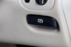 Parking brake release handle Stock Photography