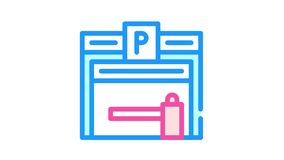 parking building color icon animation