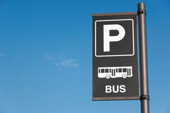 Parking Bus. Royalty Free Stock Photos
