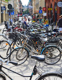 Parking of bycycles Stock Photos