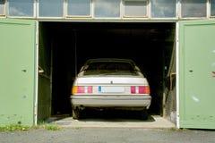 Parking Car. Car inside a Garage with Doors stock image
