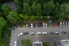 Parking the car on the day Royalty Free Stock Images