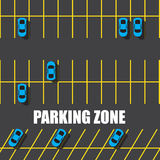 Parking car zone Stock Images