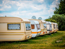 Parking caravans. Mobile home Stock Photography