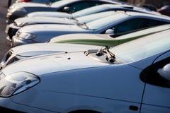 Parking cars. In beautiful sunshine Stock Photos