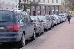 Parking cars Royalty Free Stock Photography