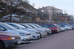 Parking cars Royalty Free Stock Image
