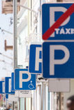 Parking in city Royalty Free Stock Photography