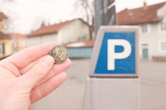 Parking costs Stock Images