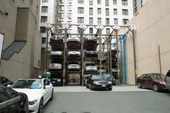 Parking dans NYC Photographie stock