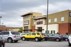 Parking de centre commercial Image stock