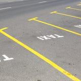 Parking de taxi photographie stock libre de droits