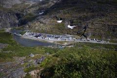 Parking de Trollstigen image libre de droits
