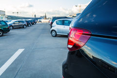 On a parking deck. Cars on a parking deck Royalty Free Stock Photos