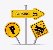Parking design. Royalty Free Stock Photo