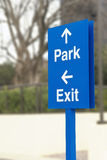 Parking Directions Sign Royalty Free Stock Images