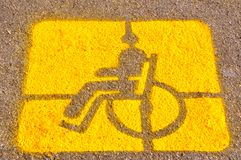 Parking for the disable sign  Royalty Free Stock Photography