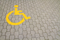 Parking for the disabled Stock Photos