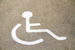 Parking for the disabled Royalty Free Stock Photo