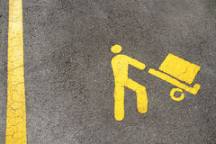 Parking for the disabled Royalty Free Stock Photography