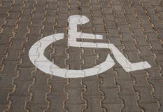 Parking for disabled Royalty Free Stock Photography