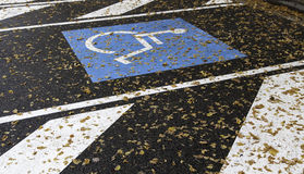 Parking for disabled Royalty Free Stock Images