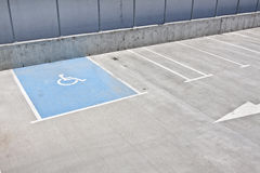 Parking for disabled people Stock Photography