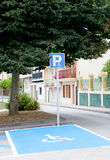 Parking for disabled people Royalty Free Stock Photo