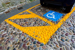 Parking for disabled Royalty Free Stock Photo