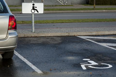 Parking for a disabled person. Stock Images