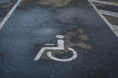 Parking for a disabled person. Royalty Free Stock Images