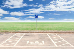 Parking for disabled wheelchair Royalty Free Stock Photography