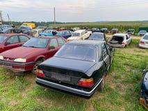 Grodno, Belarus-07.27.2021: Car dump. Broken cars. Auto-disassembly