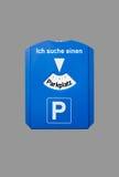 Parking disc Stock Photo