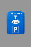 Parking disc Royalty Free Stock Photography