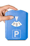 Parking disk II Stock Images